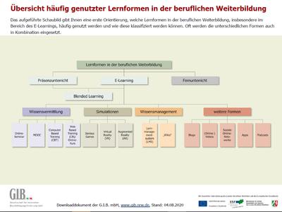 Vorschau_Schaubild Lernformen_insb. E-Learning