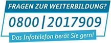 Die Telefonnummer des Infotelefons Weiterbildung lautet 0800 2017909.